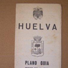 Folletos de turismo: PLANO GUÍA DE HUELVA, JUNTA PROVINCIAL DE TURISMO.. Lote 165978202