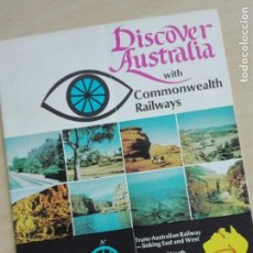 Folletos de turismo: FOLLETO 1970'S - AUSTRALIA WITH COMMONWEALTH RAILWAYS - TREN FERROCARRIL - 24 PGS 100GR. Lote 166049610