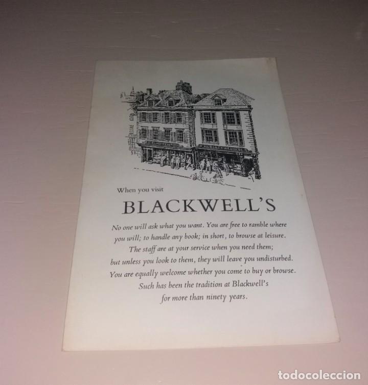 PAPEL ANTIGUO. MAPA DE OXFORD DE LAS LIBRERÍAS BLACKWELLS. AÑOS 60/70 (Coleccionismo - Folletos de Turismo)