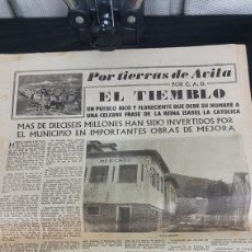 Folletos de turismo: EL TIEMBLO PERIÓDICO EL PUEBLO 1958. Lote 166535046