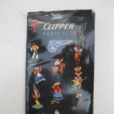 Folletos de turismo: CLIPPER - PORTFOLIO - PAN AMERICAN WORLD AIRWAYS - AÑO 1952.. Lote 166925960