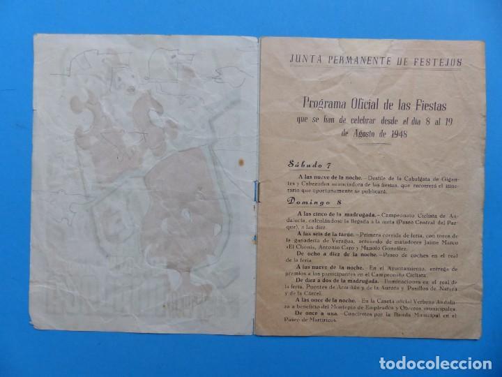Folletos de turismo: MALAGA - PROGRAMA OFICIAL DE LAS FIESTAS - AÑO 1948 - Foto 2 - 167157820