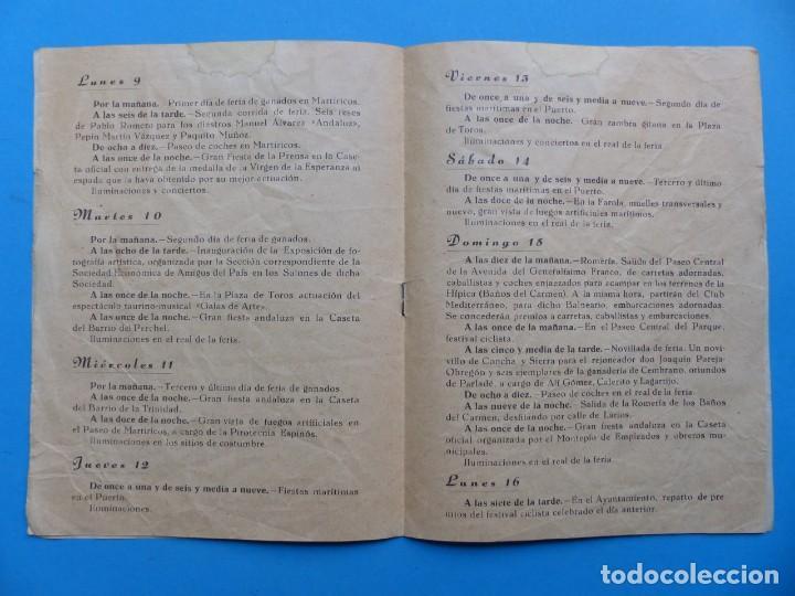 Folletos de turismo: MALAGA - PROGRAMA OFICIAL DE LAS FIESTAS - AÑO 1948 - Foto 4 - 167157820