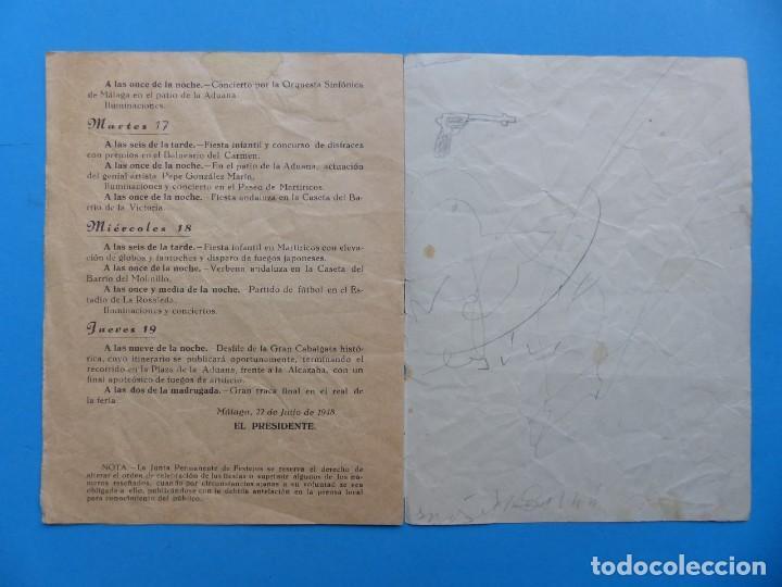 Folletos de turismo: MALAGA - PROGRAMA OFICIAL DE LAS FIESTAS - AÑO 1948 - Foto 5 - 167157820