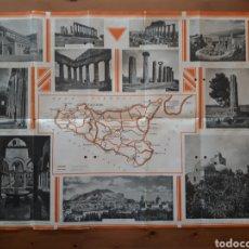 Folletos de turismo: FOLLETO DESPLEGABLE TURISMO SICILIA.. Lote 167778384