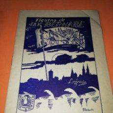 Folletos de turismo: FIESTAS DE SAN BERNABE. 1957. LOGROÑO. LIBRITO CURIOSO CON FOTOS DE LA EPOCA. BUEN ESTADO.. Lote 167920492