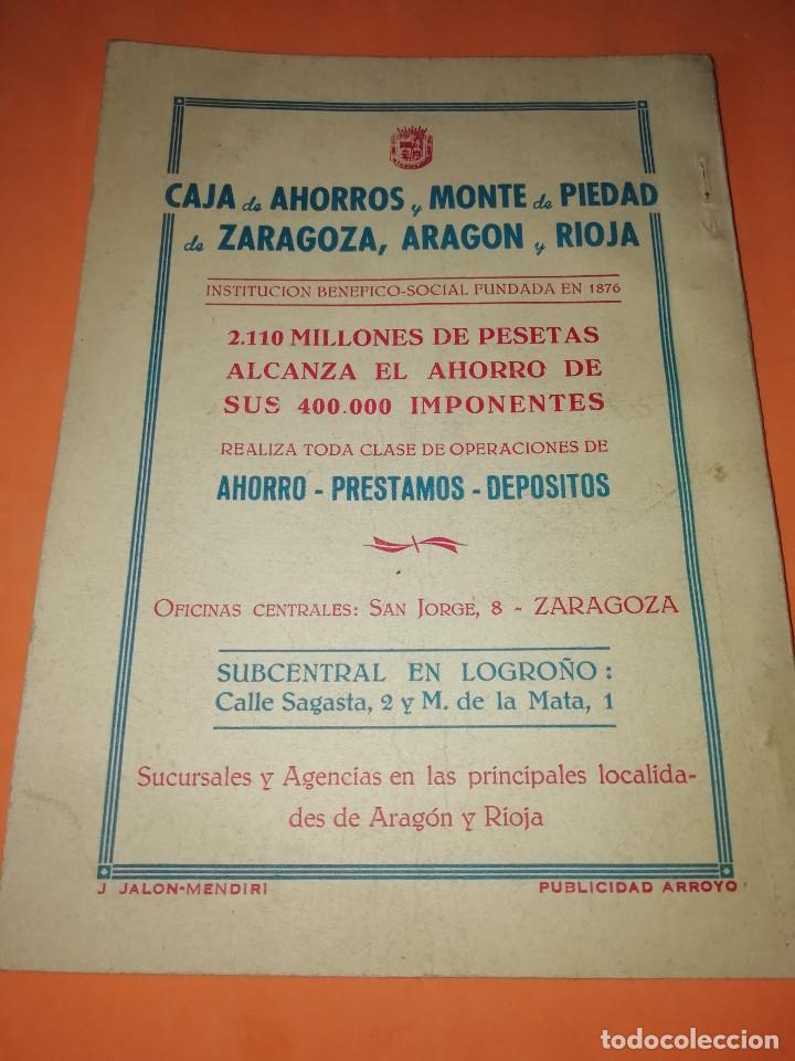 Folletos de turismo: CLUB TAURINO LOGROÑO. LIBRITO DE SAN MATEO 1956. - Foto 2 - 167921208