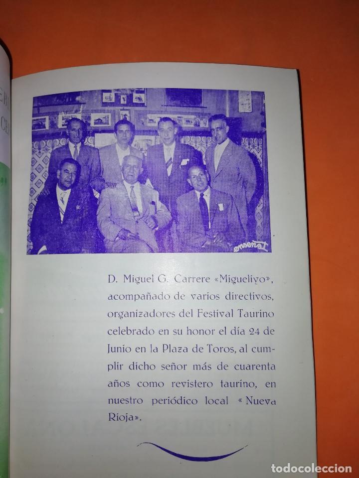 Folletos de turismo: CLUB TAURINO LOGROÑO. LIBRITO DE SAN MATEO 1956. - Foto 5 - 167921208