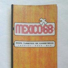 Folhetos de turismo: MAPA CARRETERAS MEXICO 68. Lote 167973793
