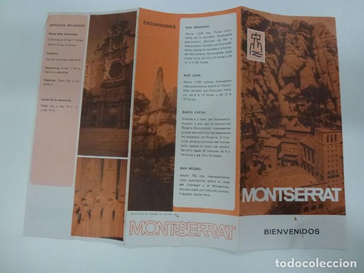 Folletos de turismo: FOLLETO DE MONTSERRAT 1971. - Foto 2 - 168461208