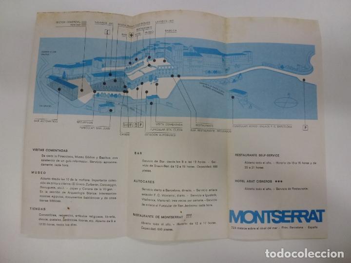 Folletos de turismo: FOLLETO DE MONTSERRAT 1971. - Foto 3 - 168461208