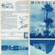 Folletos de turismo: MINORCA. AÑO ¿? (MENORCA.3.4). Lote 169573752
