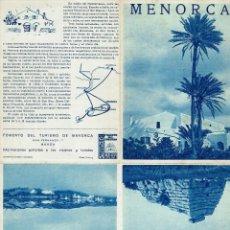 Folletos de turismo: MENORCA. AÑO ¿? (MENORCA.3.4). Lote 169573828