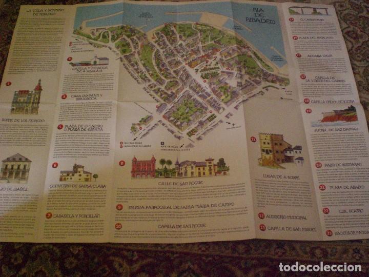 FOLLETO MAPA PLANO CALLEJERO RIBADEO (Coleccionismo - Folletos de Turismo)
