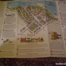 Folletos de turismo: FOLLETO MAPA PLANO CALLEJERO RIBADEO. Lote 170269100