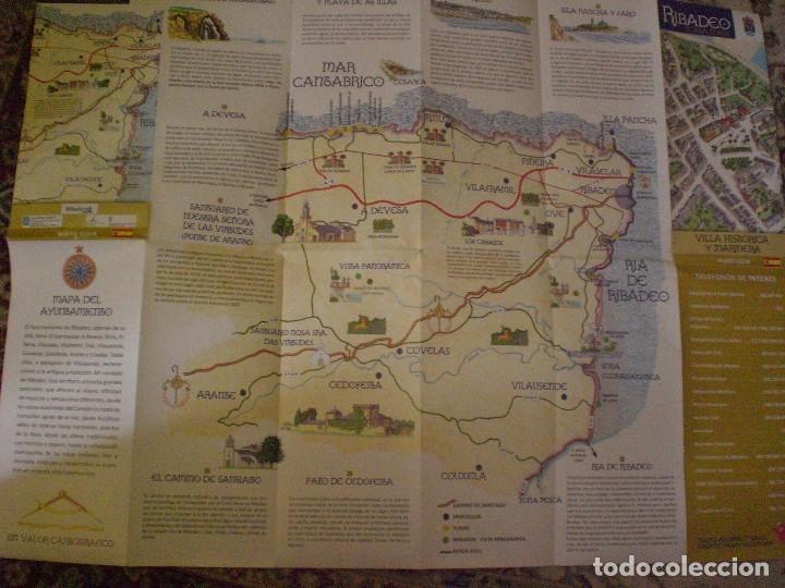 Folletos de turismo: folleto mapa plano callejero Ribadeo - Foto 2 - 170269100