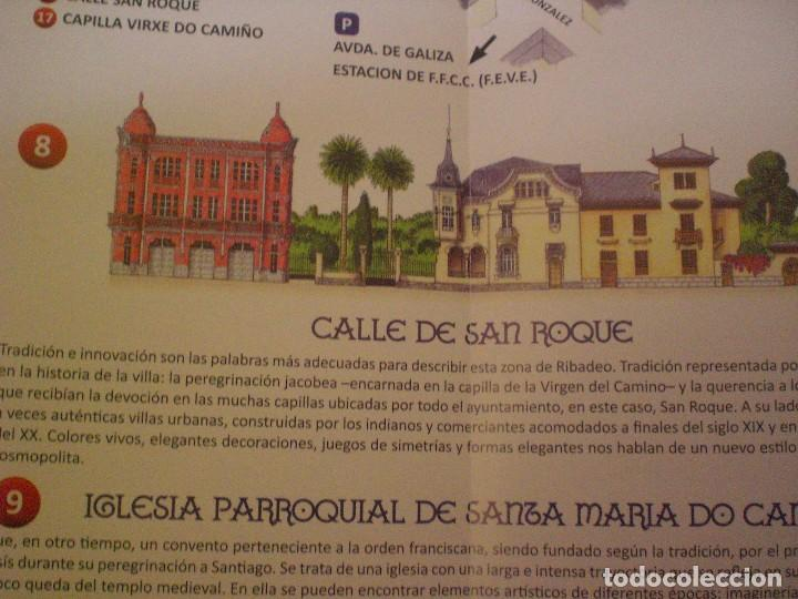Folletos de turismo: folleto mapa plano callejero Ribadeo - Foto 4 - 170269100