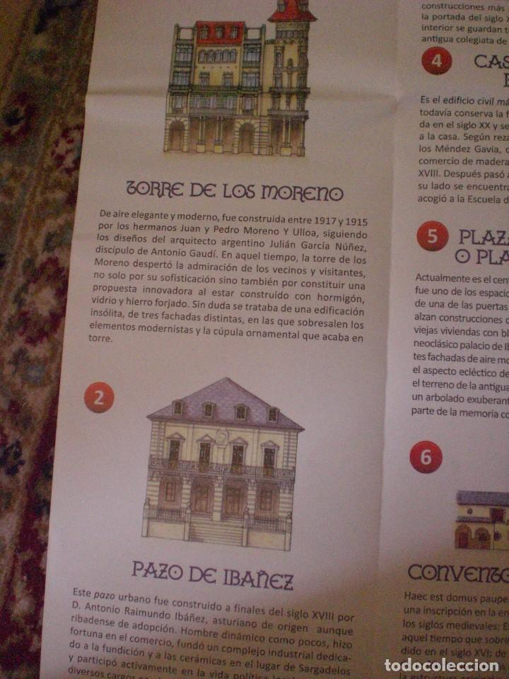 Folletos de turismo: folleto mapa plano callejero Ribadeo - Foto 5 - 170269100