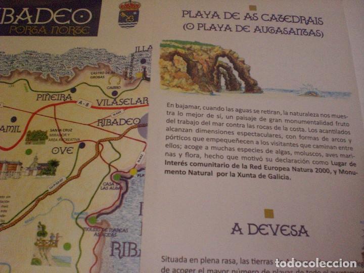 Folletos de turismo: folleto mapa plano callejero Ribadeo - Foto 6 - 170269100