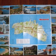Folletos de turismo: MAPA TURÍSTICO DE MENORCA . AÑO 1976. (MENORCA.1.5). Lote 170430168
