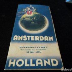 Folletos de turismo: PLANO INFORMATIVO DE AMSTERDAM, INGLES Y FRANCES 1951. Lote 171797044