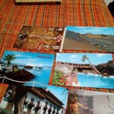 Folletos de turismo: POSTALES TENERIFE LANZAROTE. Lote 172189290