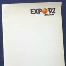 Folletos de turismo: CARPETA INFORMATIVA DE LA EXPOSICIÓN UNIVERSAL DE SEVILLA EXPO 92. Lote 172190615