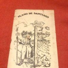 Folletos de turismo: FOLLETO PLANO SANTIAGO CAMINO JJ CEBRIAN FRANCO DIBUJO J ACUÑA 1976 LINEAS DE AUTOCARES Y CALLEJER. Lote 217336952