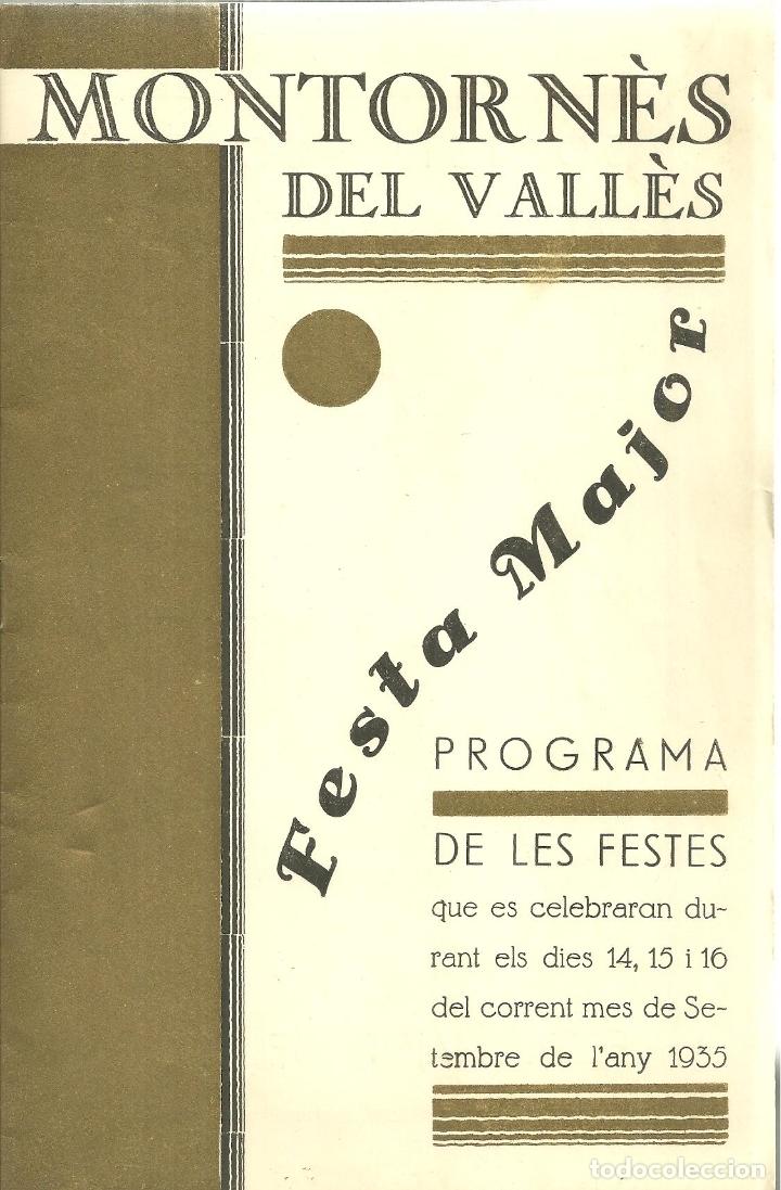 3 Montornes Del Valles Programa De Les Feste Comprar Folletos De Turismo Antiguos En Todocoleccion 172701929