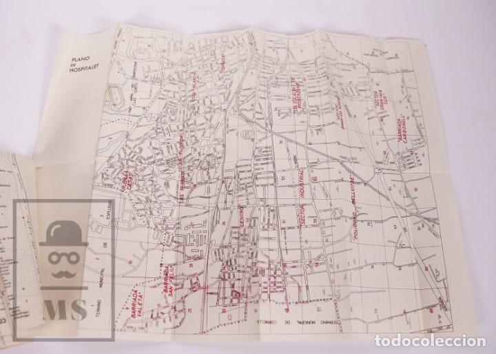 Folletos de turismo: Suplemento Guía Urbana de Barcelona, 1966 - Plano Hospitalet, Badalona, Sta Coloma, Esplugas, etc. - Foto 2 - 172822255