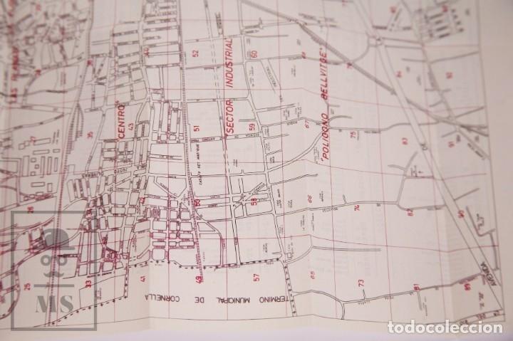 Folletos de turismo: Suplemento Guía Urbana de Barcelona, 1966 - Plano Hospitalet, Badalona, Sta Coloma, Esplugas, etc. - Foto 4 - 172822255
