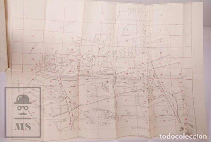 Folletos de turismo: Suplemento Guía Urbana de Barcelona, 1966 - Plano Hospitalet, Badalona, Sta Coloma, Esplugas, etc. - Foto 5 - 172822255