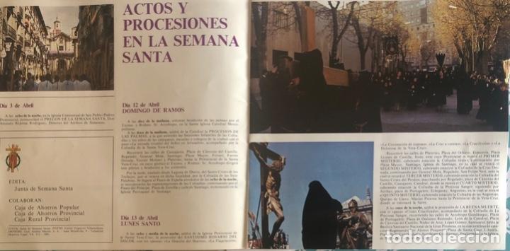 Folletos de turismo: FOLLETO TURISTICO. VALLADOLID. SEMANA SANTA 1981. ILUSTRACIONES A COLOR. VER FOTOS. - Foto 2 - 206537421