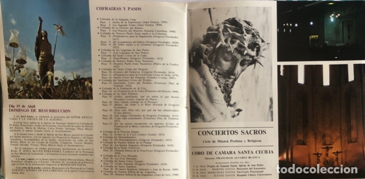 Folletos de turismo: FOLLETO TURISTICO. VALLADOLID. SEMANA SANTA 1981. ILUSTRACIONES A COLOR. VER FOTOS. - Foto 4 - 206537421