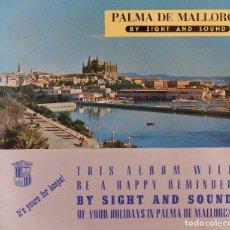 Folletos de turismo: LOTE 2 FOLLETOS : PALMA DE MALLORCA POR EL SONIDO Y LA IMAGEN- EN INGLÉS Y ALEMAN.CON DISCO. Lote 173368800