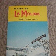 Folletos de turismo: ANTIGUO FOLLETO.VALLE DE LA MOLINA.ALP.GERONA AÑOS 60. Lote 173564898