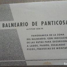 Folletos de turismo: ANTIGUO FOLLETO.BALNEARIO DE PANTICOSA.HUESCA.. Lote 173566884