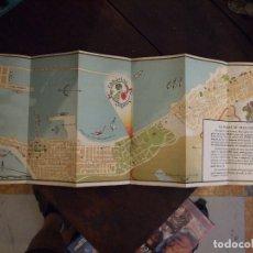 Folletos de turismo: ANTIGUO FOLLETO TURISTICO DE CANARIAS EXPRES - DESPLEGABLE MAPA Y PUBLICIDAD 1954 EN INGLES. Lote 173814863
