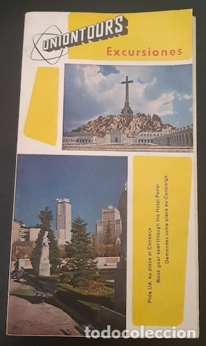 FOLLETO UNIONTOURS EXCURSIONES, DE MADRID (Coleccionismo - Folletos de Turismo)