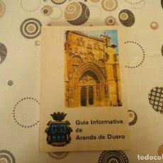 Folletos de turismo: GUIA INFORMATIVA DE ARANDA DE DUERO. Lote 174098863