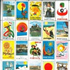 Folletos de turismo: SELLOS TURÍSTICOS DE PORTUGAL (PLIEGO DE 25 SELLOS). Lote 174245428