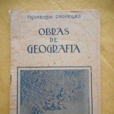 Folletos de turismo: OBRAS DE GEOGRAFÍA. IZQUIERDO GROSELLES. EDITORIAL PRIETO. GRANADA. RESUMEN DE LA OBRA. 20 PÁGINAS. Lote 174307713