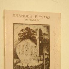 Folletos de turismo: MUY RARO PROGRAMA DE FIESTAS DE BETANZOS 1931 VER . Lote 175420065