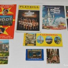 Folletos de turismo: 11 FOLLETOS , BLOCS DE POSTALES , REVISTAS ... DE EEUU - USA - AÑOS 70 - DISNEY, HOLLYWOOD., MIAMI .. Lote 175553418