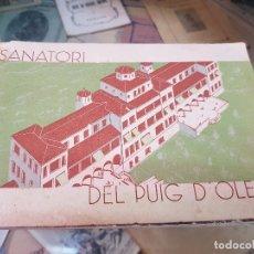 Folletos de turismo: SANATORIO ANTITUBERCULOSO DEL PUIG D'OLENA SAN QUIRICO DE SAFAJA BARCELONA . Lote 175604750