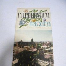 Folletos de turismo: FOLLETO TURISTICO. CUERNAVACA MEXICO. ILUSTRADO Y MAPA DE ALREDEDORES DE CUERNAVACA. VER. Lote 175669780