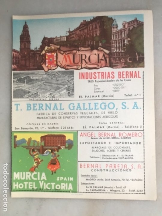 FOLLETO PLANO DE TURISMO PROVINCIA DE MURCIA (Coleccionismo - Folletos de Turismo)