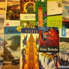 Folletos de turismo: FOLLETOS TURISMO -LOTE DE 20- ANTIGUOS. Lote 175918489