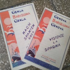 Folletos de turismo: FOLLETOS GÉNOVA BARCELONA GÉNOVA. Lote 176147679