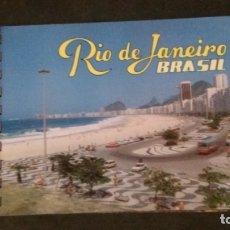 Folletos de turismo: RIO DE JANEIRO -BRASIL-POSTALES ENCUADERNADAS-PAPEL GRUESO TIPO CARTÓN. Lote 176499427